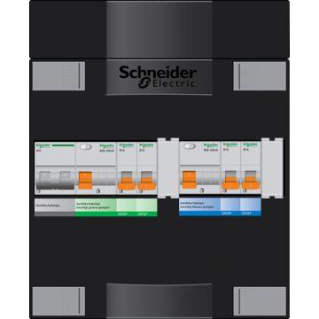 Schneider Electric met ADV installatiekast, (hxbxd) 220x220x100mm 1 fasen, beveiliging