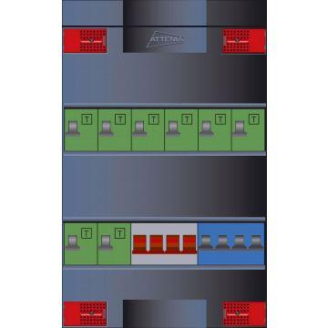 Attema Click-mate XL-plus XLVG installatiekast, (hxbxd) 380x220x100mm 3 fasen