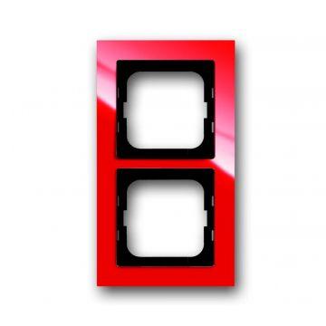 Busch-Jaeger Busch-axcent afdekraam 2-voudig, rood