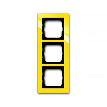 Busch-Jaeger Busch-axcent afdekraam 3-voudig, geel