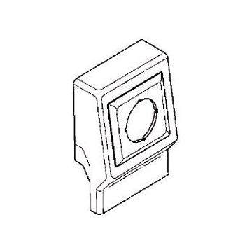 Rehau SL T opbouwdoos plintgoot, kunststof, beige, hoogte plintgoot 20mm diepte