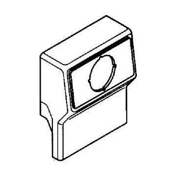Rehau SL T opbouwdoos plintgoot, kunststof, crème/wit, hoogte plintgoot 20mm