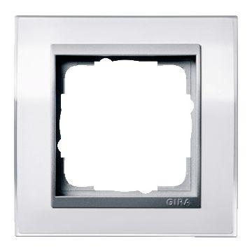 Gira Event Clear afdekraam kunststof, wit, 1 eenheid, montagerichting