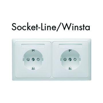 PEHA Socket-Line Wago Winsta wandcontactdoos kunststof