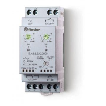 Finder 11 schemerschakelaar kunststof, wit, uitvoering sensor lichtsensor
