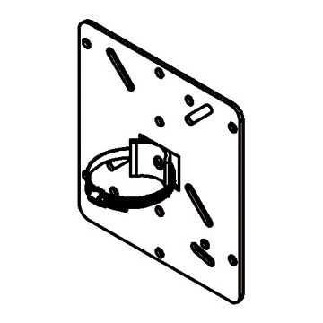 HK Electric Electric montageplaat kabelbuis, metaal, (bxh) 165x175mm oppervlaktebescherming