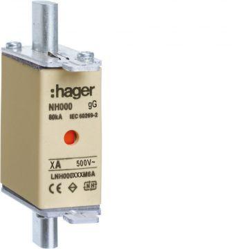 Hager Weber.fuses smeltpatroon (mes), DIN-grootte NH000, nom. (meet-)stroom