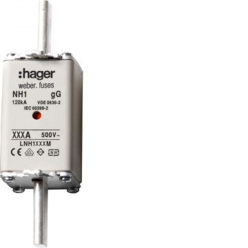 Hager Weber.fuses smeltpatroon (mes), DIN-grootte NH1, nom. (meet-)stroom 250A
