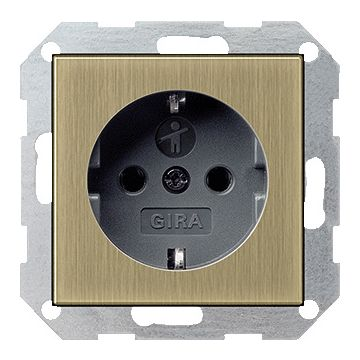 Gira ClassiX Brons wandcontactdoos, metaal, brons, 1 eenheid