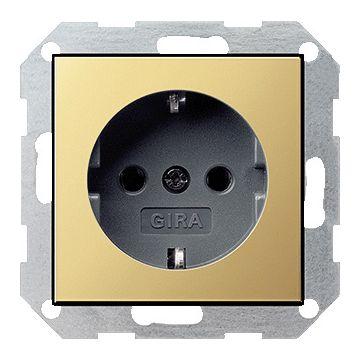 Gira ClassiX Messing wandcontactdoos, metaal/kunststof