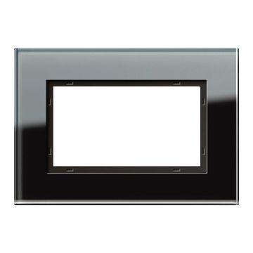 Gira Esprit afdekraam, glas, zwart, 1 eenheid, montagerichting