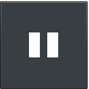 Niko Intense afwerkingsset voor dubbele USB-A-lader, antraciet