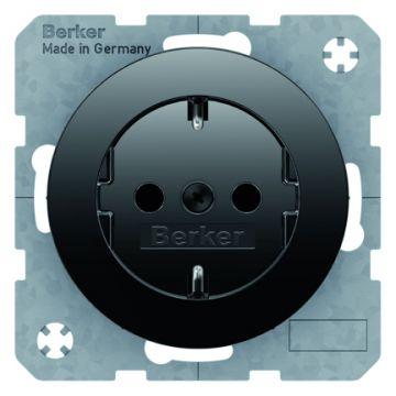 Hager berker R.1/R.3 wandcontactdoos, zwart