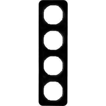 Hager berker R.1 afdekraam, zwart, (bxhxd) 294x81x10mm