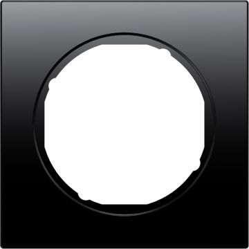 Hager berker R.3 afdekraam, zwart, (bxhxd) 81x81x10mm