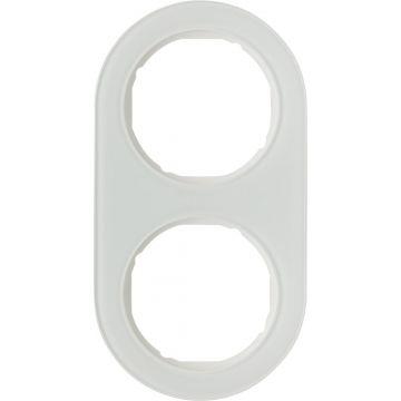 Hager berker R.classic afdekraam glas, wit, (bxhxd) 152x81x10mm