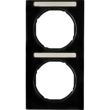 Hager berker R.3 afdekraam, zwart, (bxhxd) 81x152x10mm