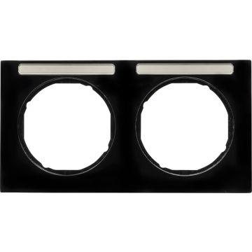 Hager berker R.3 afdekraam, zwart, (bxhxd) 152x81x10mm