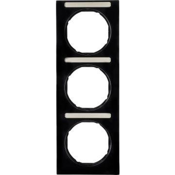 Hager berker R.3 afdekraam, zwart, (bxhxd) 81x223x10mm