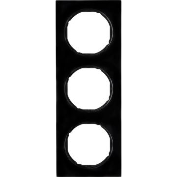 Hager berker R.3 afdekraam, zwart, (bxhxd) 223x81x10mm
