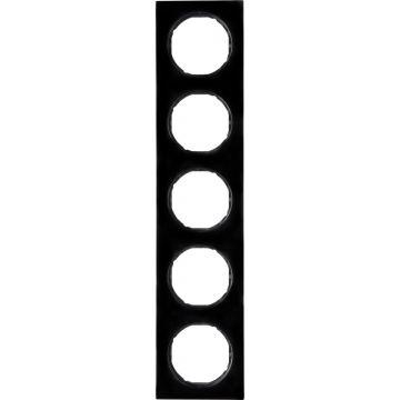 Hager berker R.3 afdekraam, zwart, (bxhxd) 365x81x10mm