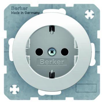 Hager berker R.1/R.3 wandcontactdoos, wit