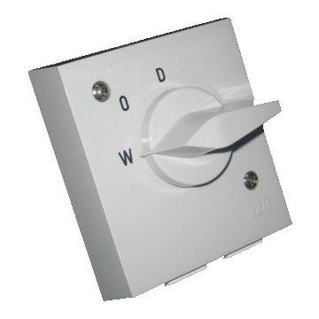 ASN Sontheimer wasmachine-/drogerschakelaar inbouw, 2 polen, indicatie controleschakelaar