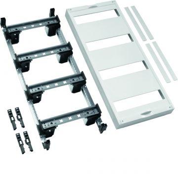 Hager Univers DIN-rails inbouwunit leeg, (hxbxd) 600x250x125mm 4 DIN-rails