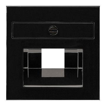 Gira S-Color outlet-component kunststof, zwart, samenstelling