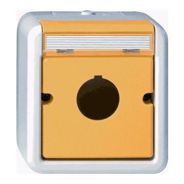 Gira Spatwaterdicht opbouw outlet-component kunststof, grijs