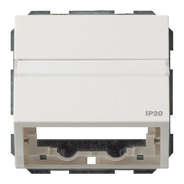 Gira TX44 outlet-component kunststof, wit, samenstelling