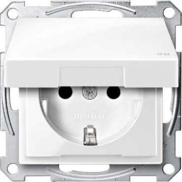 Schneider Electric Merten Systeem M wandcontactdoos kunststof, wit, 1