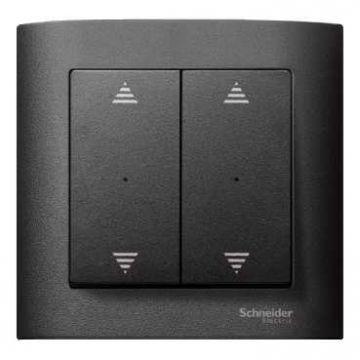 Schneider Electric Merten KNX seriewip impulsdrukkermodule 2-voudig (Op/neer), antraciet