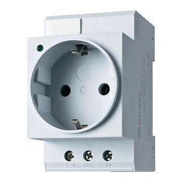 Finder 7 wandcontactdoos modulair randaarde, DRA (DIN-rail adapter), breedte