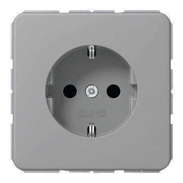 JUNG CD Plus wandcontactdoos kunststof, grijs, uitvoering ra, 1 eenheid