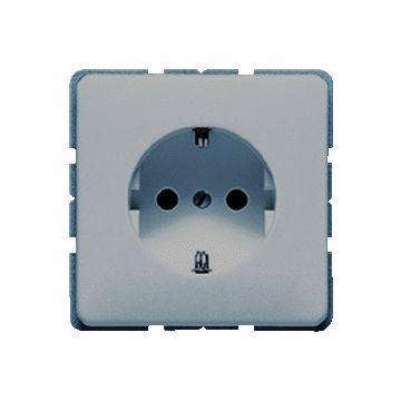 JUNG CD Plus wandcontactdoos kunststof, grijs, 1 eenheid, uitvoering