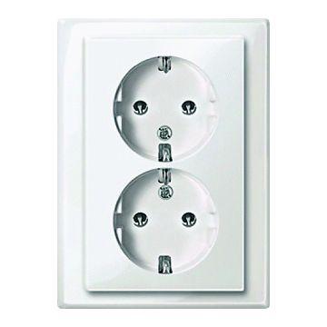 Schneider Electric Merten M-Smart wandcontactdoos kunststof, wit, 2