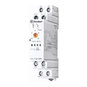 Finder 13 bistabiel relais, (hxbxd) 88x17.5x61mm DIN-rail, breedte in module-eenheden