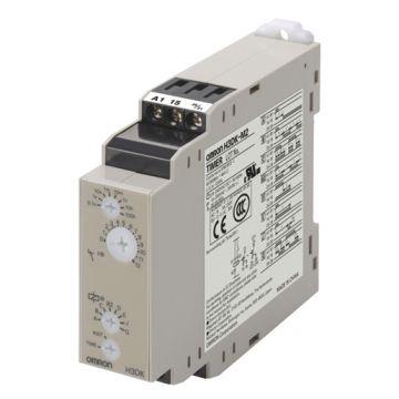 Omron H3DK met tijdrelais, DRA (DIN-rail adapter), uitvoering elektrische aansluiting