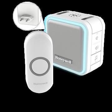 Honeywell Home draadloze plug-in deurbel, wit