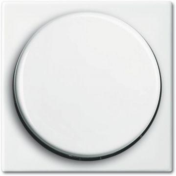 Busch-Jaeger Busch-balance SI centraalplaat voor draaidimmer met draaiknop, bevestigingsmoer en glimlampje, wit