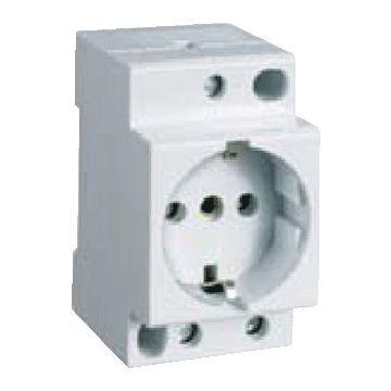 Geyer wandcontactdoos mod randaarde EL, wit, DRA (DIN-rail ad), br in module-eenheden 3.5
