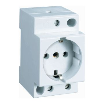 Geyer wandcontactdoos mod randaarde EL, wit, DRA (DIN-rail ad), br in module-eenheden 3