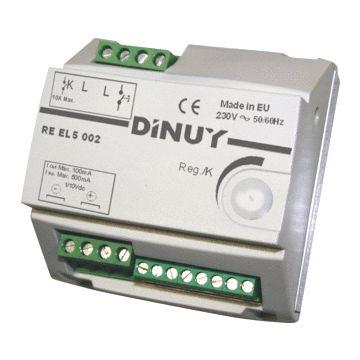DINU dimmer, kunststof, wit, basiselement, drukknop, bel EVSA 1-10 V