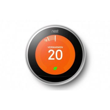 Nest Learning Thermostat slimme thermostaat, zilver