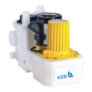 Ksb vuilwaterpompunit mini-compacta, voor fecaliën, reservoir kunststof