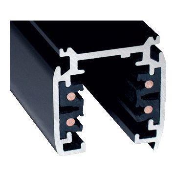 Klemko spanningsrail, aluminium, zwart, (lxbxh) 3000x32.2x36.4mm, 3 groepen/fasen