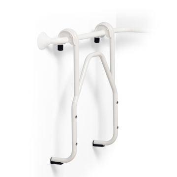 Linido hangend frame hoogte verstelbaar voor douchezitting, rvs gecoat wit