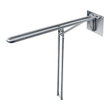 D Line toiletsteun (lxb) 850x69.5mm, met vloerstatief, rvs