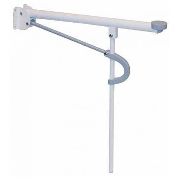 Etac toiletsteun vergrendelbaar OptimaL, staal, wit, (lxb) 735x110mm